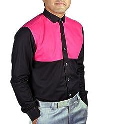 Riverbero Men's Casual Shirt (SN_BFS_230_Black_38)