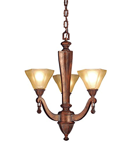 Wholesale 20 Inch W Oakland 3 Light Chandelier Ceiling Fixture, [Lighting, Ceiling]