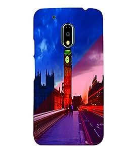 PrintVisa Travel Big Ben 3D Hard Polycarbonate Designer Back Case Cover for Motorola Moto G4 PLAY