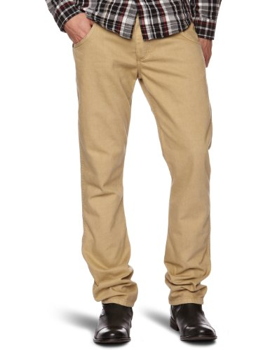 Wrangler Spencer Straight Men's Trousers Sandstorm W29 INxL34 IN