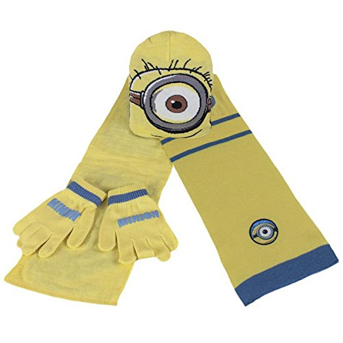 ref9b02-lic-243-minion-3-piece-set-hat-scarf-gloves-licensed-product-one-size