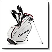 TaylorMade TMX Stand Bag, White/Silver/Black