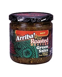 Arriba Fire Roasted Green Salsa Hot 16-ounce Jars Pack Of 3 from Arriba!