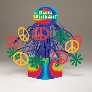 Creative Converting Tie Dye Fun Mini Cascading Centerpiece Party Decoration