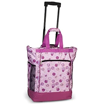 Everest Rolling Tote, Light Purple, One Size