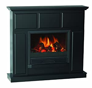 Quality Craft Mm931 44fbk Electric Fireplace Heater With 44 Inch Classically Styled Mantel