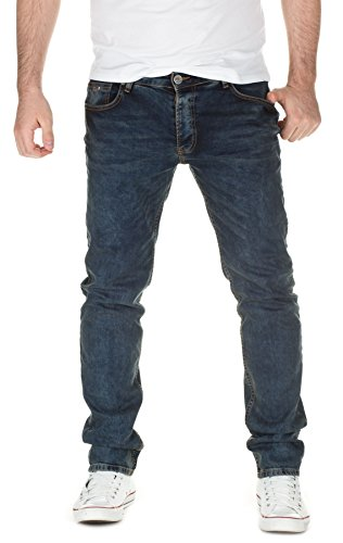 YAZUBI - Jeans Darren slim fit, uomo , blue denim (3204), W38/L34