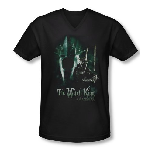 The Lord of The Rings Movie Witch King Adult V-Neck T-Shirt Tee