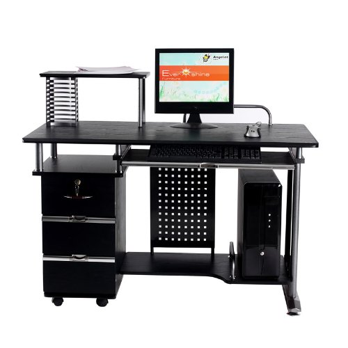 Office Desk Work Station Computer table AB D-03 Black
