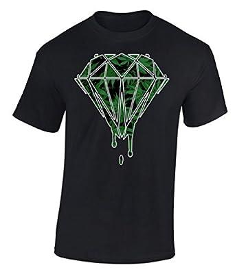 Raxo Weed Diamond Dripping T-shirt Marijuana Kush Cannabis Cool Smoker Shirt