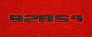 Logo 1984-1994 Porsche 928 Luxury 4 Pc Car Mat Set Luxury Cruiser Mat Color: Black Mat Logo: 928S4 (Block) Embroidery - Charcoal