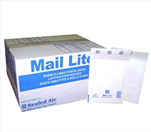 "100 Mail Lite - C/0 - JL0 - Jiffy Padded Envelopes 150 x 210mm - 6"" x 8.5"" (Box of 100) - White"