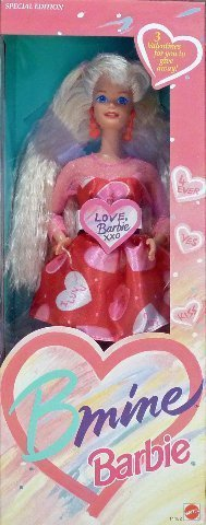 BARBIE BMINE VALENTINE DOLL, SPECIAL EDITION, 1993 EDITION, #11182, NRFB