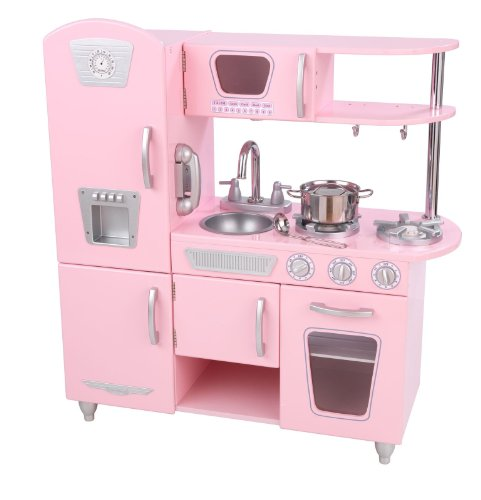 KidKraft Pink Vintage Retro Pretend Play Kitchen