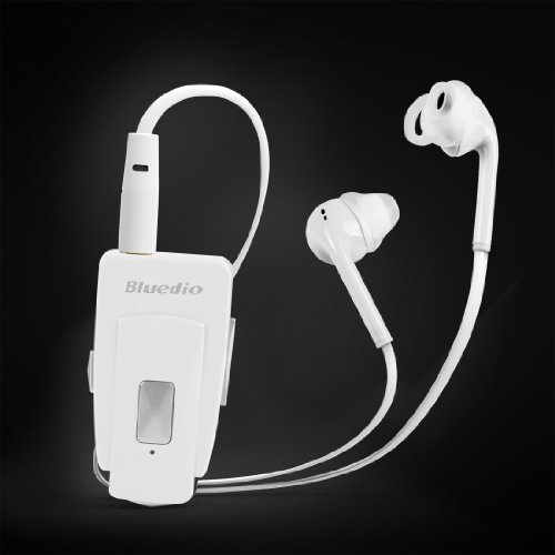 Bluedio Eh Bluetooth Stereo Headset/In-Ear Earphones Bluetooth 4.0 Nfc Wireless Headset High-Quality Music Streaming World First Release 2014 Retail Gift Packaging (Ivory White)