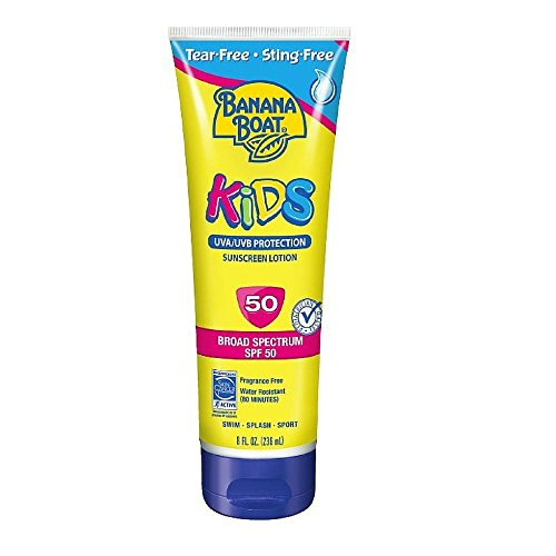 Banana Boat Kids Tear Free Sunscreen Lotion SPF 50, 8 Oz - 1
