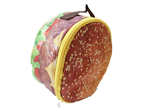 Accessory Innovations Classic Cheeseburger Round Cooler Lunch Bag Food ...