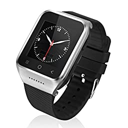 EXCELVAN ZGPAX S8 Silicone 1.54 Inch Android 4.4 MTK6572 Dual Core Phone Watch 2.0MP Camera WCDMA GSM Smart Watch With Email GPS WIFI (Silver)