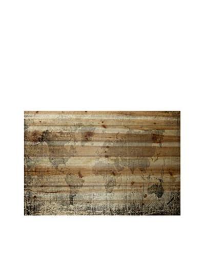 Marmont Hill Latitude Pine Wood Wall Art