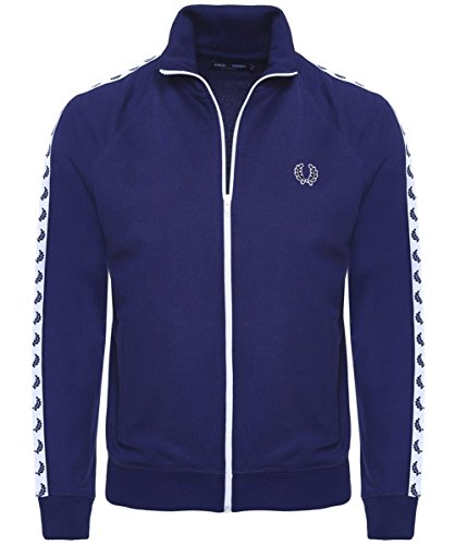 fred perry laurel band track jacket blau xl. Black Bedroom Furniture Sets. Home Design Ideas
