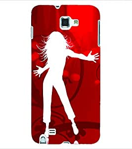 ColourCraft Dance Back Case Cover for SAMSUNG GALAXY NOTE 1