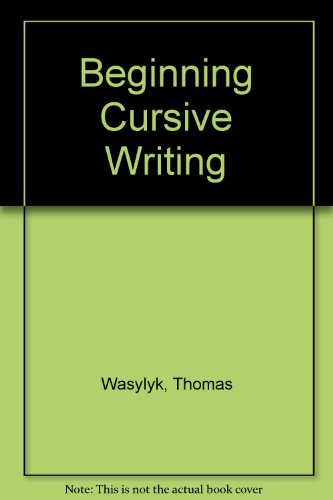 Beginning Cursive Writing