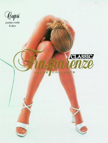 Trasparenze Capri 8 Denier Sheer to Waist Summer Pantyhose/Tights - Made in Italy