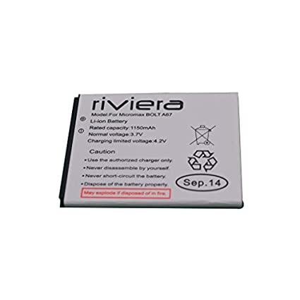 Riviera 1150mAh Battery (For Micromax A67)