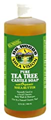 Dr. Woods Pure Tea Tree Castile Soap with Organic Shea Butter