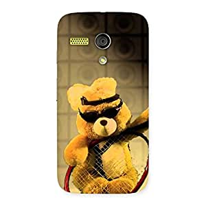 Delighted Teddy Racket Back Case Cover for Moto G