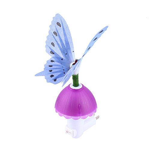 Fiber Optic Butterfly LED Color Change Night Light Lamp - Blue (Homemade Plug And Socket Costume)