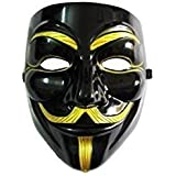 VIP version of V for Vendetta Mask / Anonymous / Guy Fawkes mask Mask Black & Gold (japan import) by Rubies