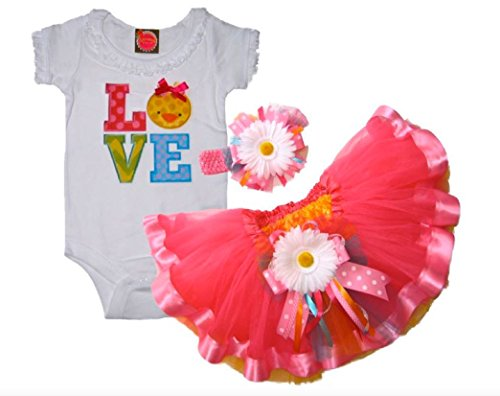 Southern Wrag Company BABY GIRLS Easter Tutu & Creeper Set BABY CHICK LOVE