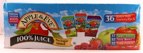 Apple & Eve 100% Juice No Sugar Added Variety Pack 36 - 6.75 oz. Boxes