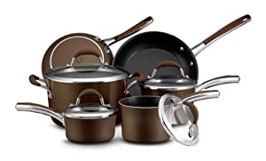 Farberware Affiniti Nonstick 12-Piece Cookware Set, Bronze