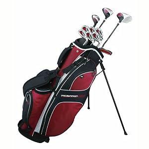 Prosimmon Golf DRK Mens RH Graphite/Steel Hybrid Club Set & Stand Bag