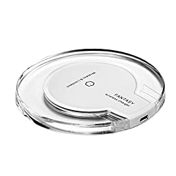 Minidiva Wireless Charger, Qi Enabled Smart Wireless Charging Pad for Samsung galaxy 6/6 edge (White)