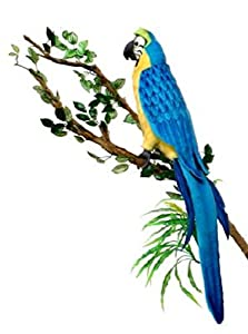 """Gold Blue Macaw 12"""" by Hansa"""