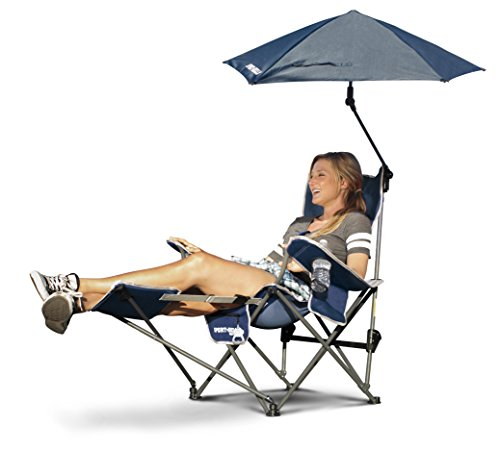 Sport-Brella Recliner Chair, Midnight Blue (3 Person Folding Sports Chair compare prices)