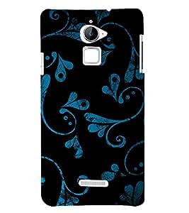 Beautiful Blue Black Pattern 3D Hard Polycarbonate Designer Back Case Cover for Coolpad Note 3 Lite :: Coolpad Note 3 Lite Dual SIM