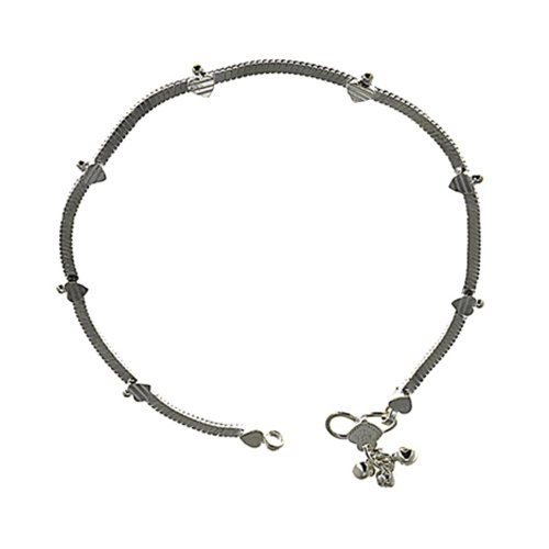 Feet Chain Bracelet For Women Jewellery Indian Anklet Silver Length: 26.04 CM