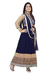 khodiyar fashion Blue georgette semi-stiched suit