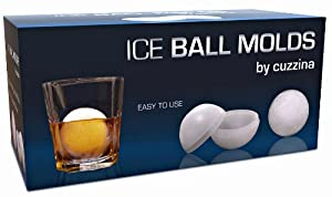 Ice Ball Mold - Premium Quality Ice Ball Maker for Creating Slow Melting Ice Balls - Round... by Cuzzina