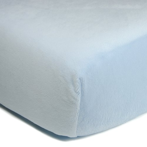 Luxe Basics So Softy Fitted Crib Sheet, Baby Blue