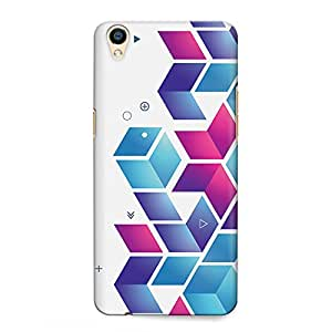 CrazyInk Premium 3D Back Cover for OPPO F1 PLUS - Abstract Boxes Pattern