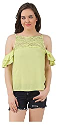 Fem&Her Women's Round Neck Top (PP17, Lemon Yellow, 38)