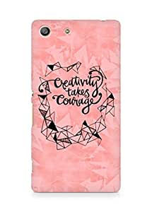 AMEZ creativity takes courage Back Cover For Sony Xperia M5