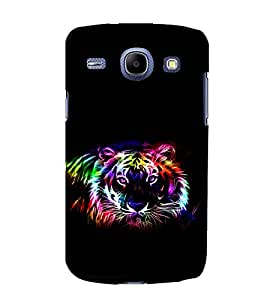 printtech Tiger Colored Streak Back Case Cover for Samsung Galaxy A3 / Samsung Galaxy A3 A300F