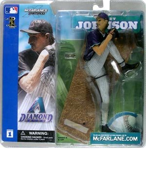 Buy Low Price McFarlane Sports Picks MLB Series 1 Randy Johnson Purple Jersey Variant Figure (B000WBL1YQ)