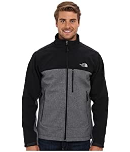The North Face Mens Apex Bionic Jacket TNF Black Heather Large from The North Face